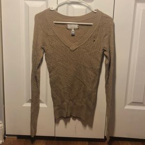 Tan long sleeve AEO